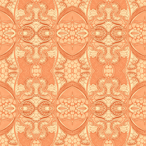 Orange Blossum Time fabric by edsel2084 on Spoonflower - custom fabric