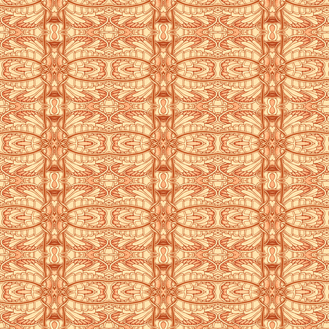 Angel Wings (terracotta) fabric by edsel2084 on Spoonflower - custom fabric
