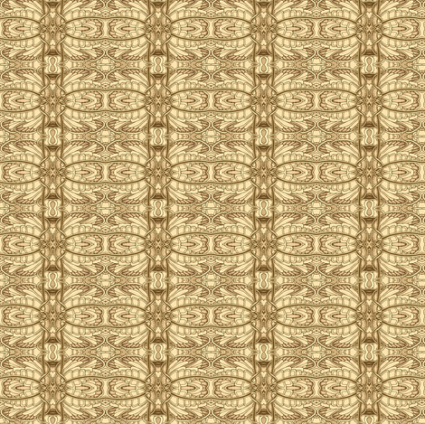 Angel Wings (sepia) fabric by edsel2084 on Spoonflower - custom fabric