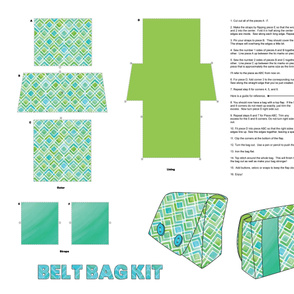 Belt Bag - Cut and Sew Pattern
