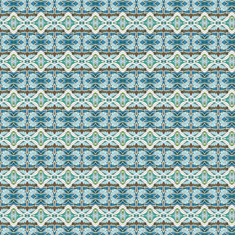 Prim and Proper Blue Horizontal Granny Stripe fabric by edsel2084 on Spoonflower - custom fabric
