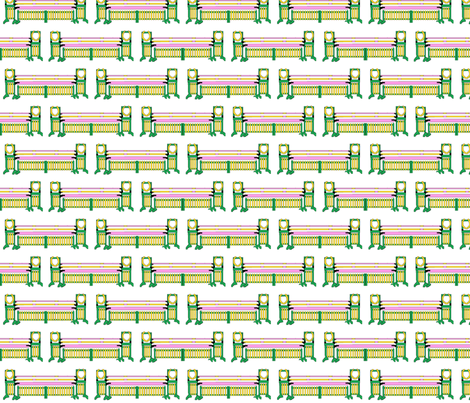 Muffy's Gate and Plank fabric by ragan on Spoonflower - custom fabric