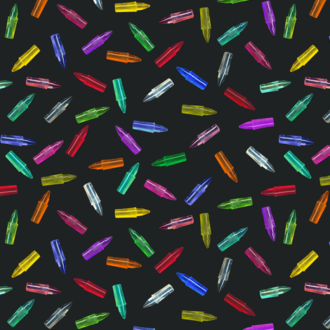 scattered bright pegs fabric by weavingmajor on Spoonflower - custom fabric