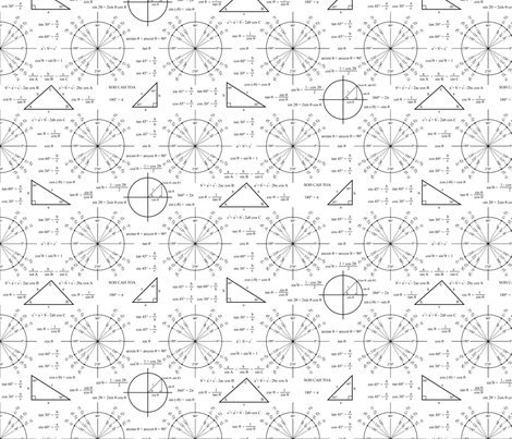 Trig and Triangles fabric by robyriker on Spoonflower - custom fabric