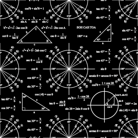 Trig and Triangles (Dark) fabric by robyriker on Spoonflower - custom fabric