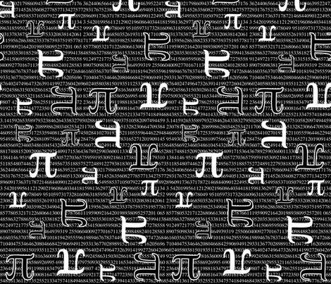 Pi are Square (Dark) fabric by robyriker on Spoonflower - custom fabric