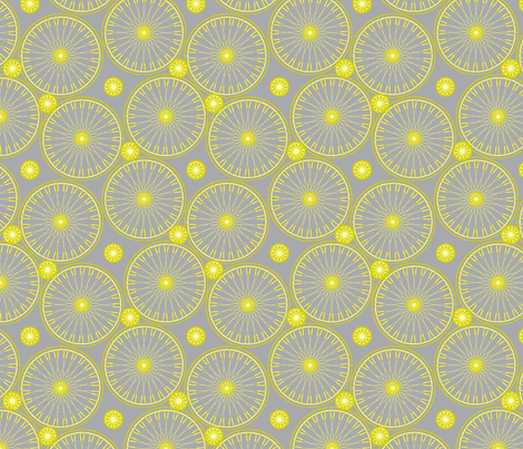 bicycle wheels and gears - lime fizz fabric by glimmericks on Spoonflower - custom fabric