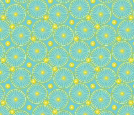 bicyclewheels_and_gears lime spritzer fabric by glimmericks on Spoonflower - custom fabric