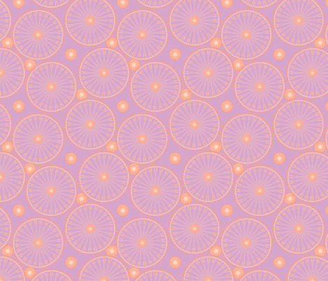 bicyclewheels_and_gears grapefruit  spritzer fabric by glimmericks on Spoonflower - custom fabric