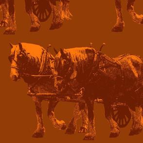 Heavy- Horses Toile Pheasant