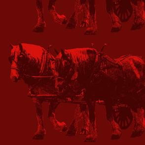 Heavy Horses Toile Wine