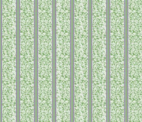 cherry_blossom_stripe_-_green fabric by glimmericks on Spoonflower - custom fabric