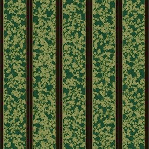 cherry blossom stripe - forest