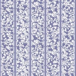 cherry blossom stripe - periwinkle