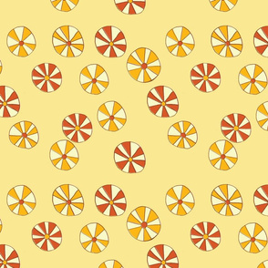 Pinwheel Flowers in Yellow