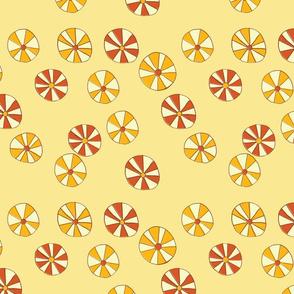 Pinwheel Flowers in Yellow
