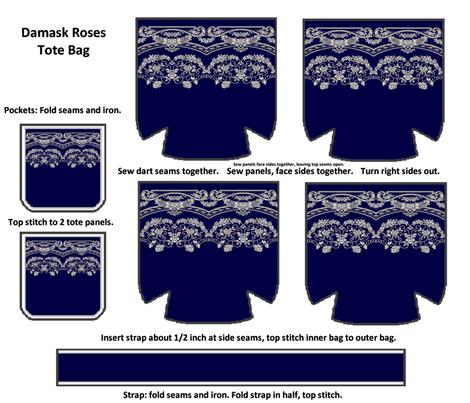 Damask Roses Bag