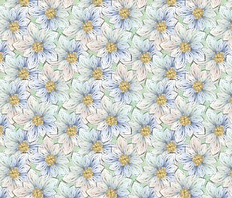BIGFLOWERS fabric by glimmericks on Spoonflower - custom fabric