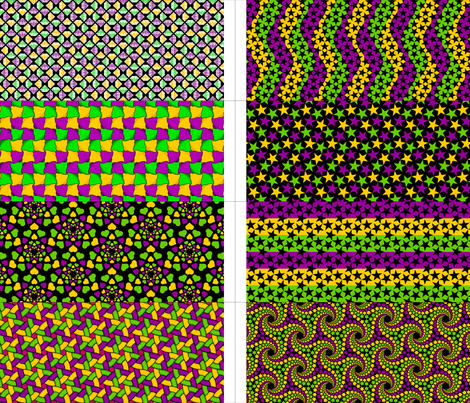 8 party bags - mardi gras fabric by sef on Spoonflower - custom fabric