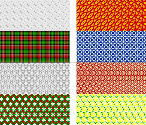 8 party bags - winter fabric by sef on Spoonflower - custom fabric