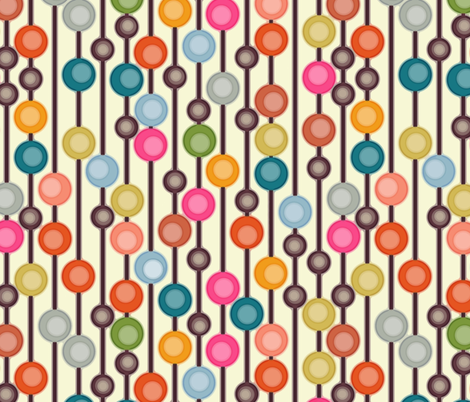 mocha chocca candy bubbles fabric by scrummy on Spoonflower - custom fabric