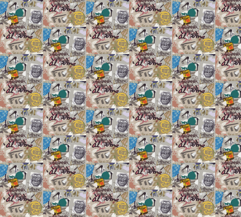 Street Art Party fabric by susaninparis on Spoonflower - custom fabric