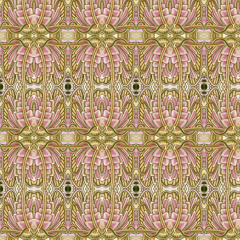 Angel Wings (pink/tan) fabric by edsel2084 on Spoonflower - custom fabric
