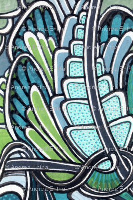 Angel Wings (blue/green)