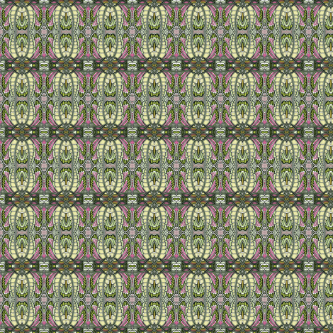 Angel Wings (olive/pink) fabric by edsel2084 on Spoonflower - custom fabric