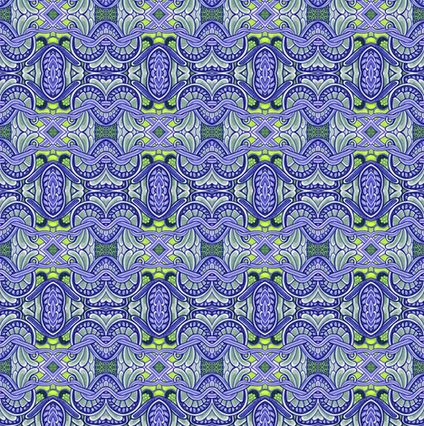 Color Me Blue fabric by edsel2084 on Spoonflower - custom fabric