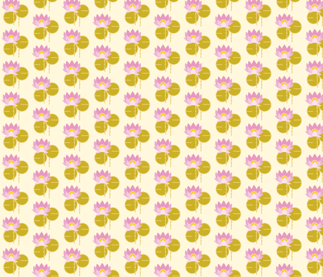 Lotus gold fabric by cindy_lindgren on Spoonflower - custom fabric