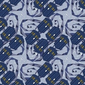 Police Box - Blue Galactic Swirl-SMALL