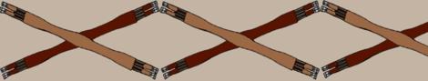 Crossed Girths - match fox fabric by ragan on Spoonflower - custom fabric