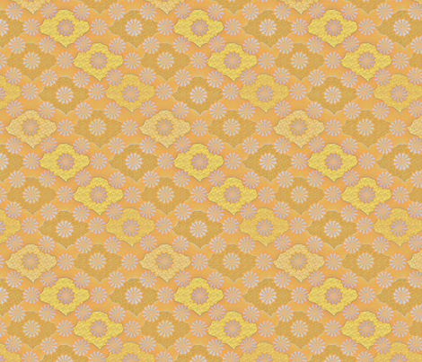 medallion1000 gilded lilac fabric by glimmericks on Spoonflower - custom fabric