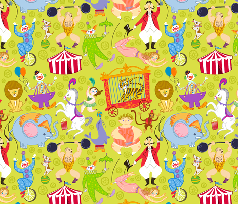 Under the Big Top fabric by spicysteweddemon on Spoonflower - custom fabric