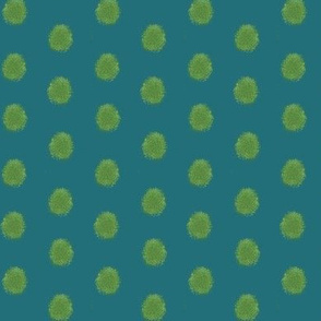 Woodland Moss Dots Turquoise