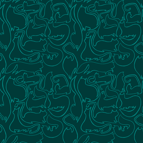 Slick Kitty fabric by spicysteweddemon on Spoonflower - custom fabric