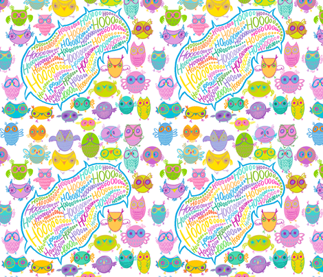 owlies fabric by spicysteweddemon on Spoonflower - custom fabric