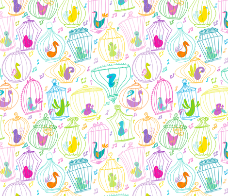 Cagey fabric by spicysteweddemon on Spoonflower - custom fabric