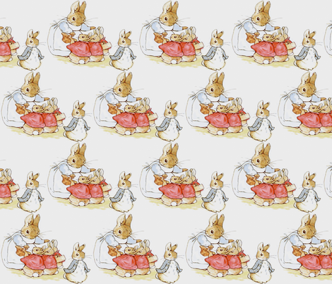 PETER RABBIT AND FAMILY fabric by bluevelvet on Spoonflower - custom fabric