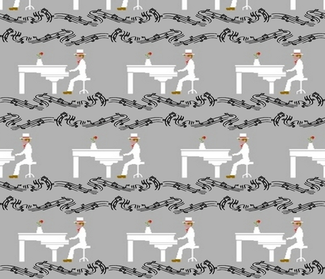 PIANO MAN fabric by bluevelvet on Spoonflower - custom fabric