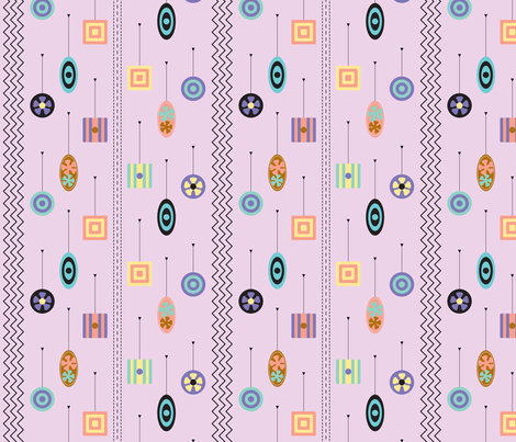 Retro Tape Measures fabric by modgeek on Spoonflower - custom fabric