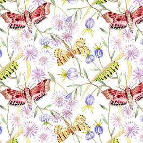 Fluttering Moths/Light Purple