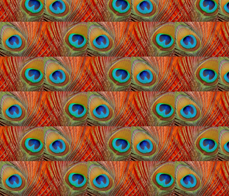 Peacock Eyes fabric by neverlosehope on Spoonflower - custom fabric