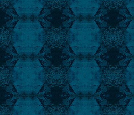 Mixed darkblue Indian by evandecraats march 26, 2012 fabric by _vandecraats on Spoonflower - custom fabric