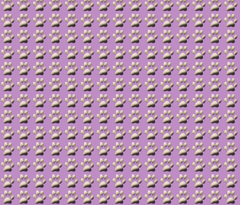 Lavender Pawprint Coordinate fabric by dogdaze_ on Spoonflower - custom fabric