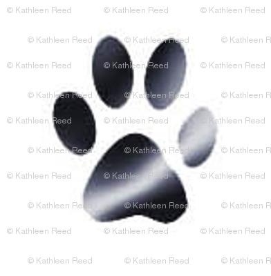black and white pawprint_coordinate