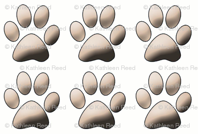 Pawprints on white