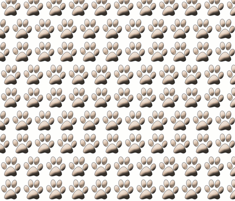 Pawprints on white fabric by dogdaze_ on Spoonflower - custom fabric