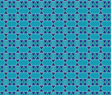 Mosaik Harbour Turquoise fabric by miss_blümchen on Spoonflower - custom fabric